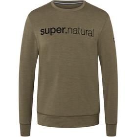 super.natural Signature Crew Top Men olive night melange/jet black